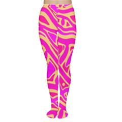 Pink abstract art Women s Tights