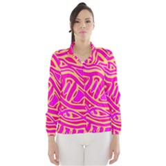 Pink abstract art Wind Breaker (Women)