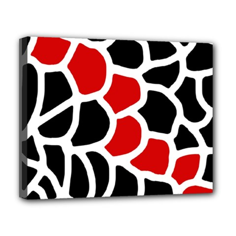 Red, black and white abstraction Deluxe Canvas 20  x 16