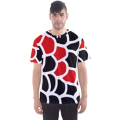 Red, black and white abstraction Men s Sport Mesh Tee