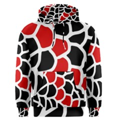 Red, black and white abstraction Men s Pullover Hoodie