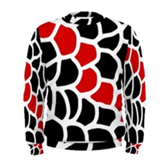 Red, black and white abstraction Men s Sweatshirt