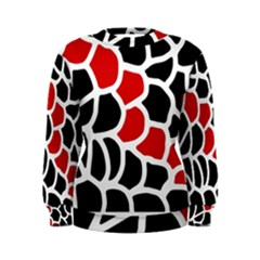Red, black and white abstraction Women s Sweatshirt