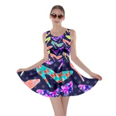 Colorful High Heels Pattern Skater Dress