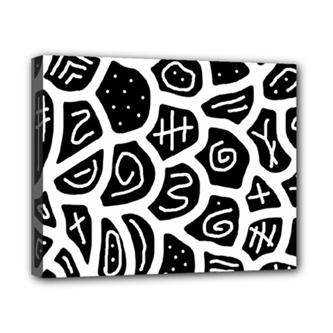 Black and white playful design Canvas 10  x 8