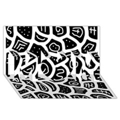 Black and white playful design MOM 3D Greeting Card (8x4)