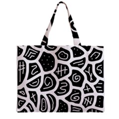 Black and white playful design Mini Tote Bag
