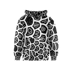 Black and white playful design Kids  Pullover Hoodie