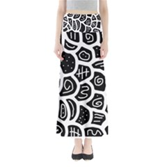 Black and white playful design Maxi Skirts