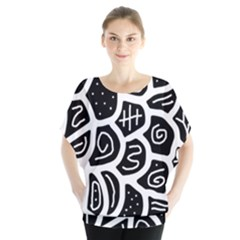 Black and white playful design Blouse