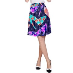 Colorful High Heels Pattern A-Line Skirt