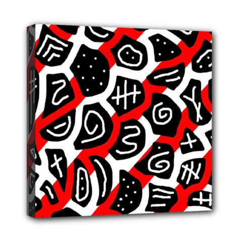 Red playful design Mini Canvas 8  x 8