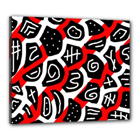Red playful design Canvas 24  x 20