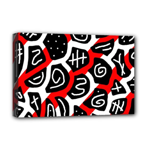 Red playful design Deluxe Canvas 18  x 12