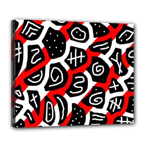 Red playful design Deluxe Canvas 24  x 20