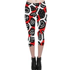 Red playful design Capri Leggings