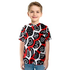 Red playful design Kid s Sport Mesh Tee