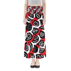 Red Playful Design Maxi Skirts