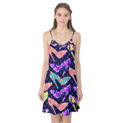 Colorful High Heels Pattern Camis Nightgown