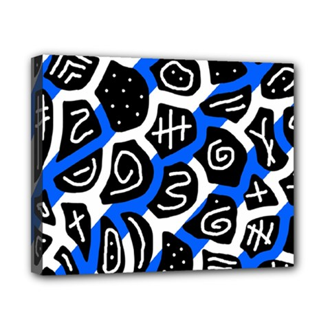 Blue playful design Canvas 10  x 8