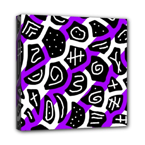 Purple playful design Mini Canvas 8  x 8