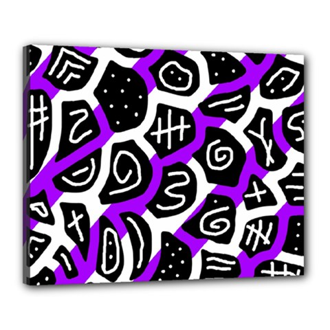 Purple playful design Canvas 20  x 16