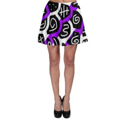 Purple playful design Skater Skirt