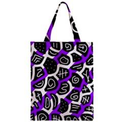 Purple playful design Zipper Classic Tote Bag