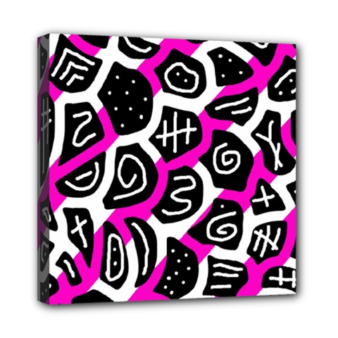 Magenta playful design Mini Canvas 8  x 8