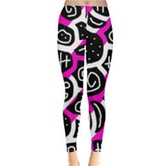Magenta playful design Leggings