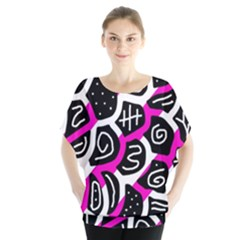Magenta playful design Blouse