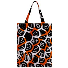 Orange playful design Zipper Classic Tote Bag
