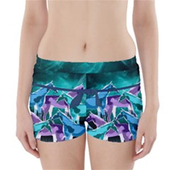 Horses Under A Galaxy Boyleg Bikini Wrap Bottoms