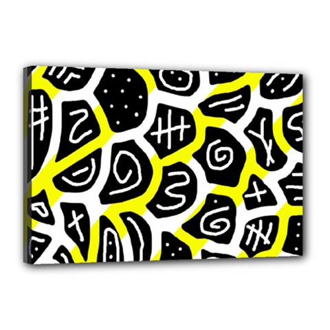 Yellow playful design Canvas 18  x 12