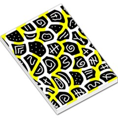 Yellow playful design Large Memo Pads