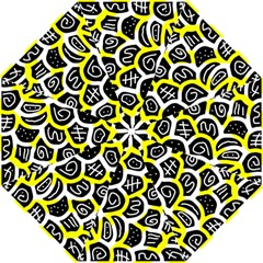 Yellow playful design Hook Handle Umbrellas (Large)