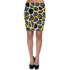 Yellow playful design Bodycon Skirt