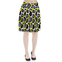 Yellow playful design Pleated Skirt