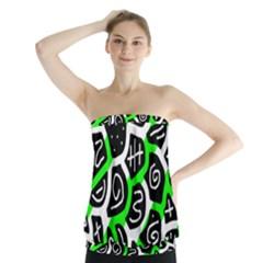 Green playful design Strapless Top