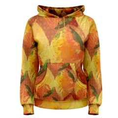 Fall Colors Leaves Pattern Women s Pullover Hoodie