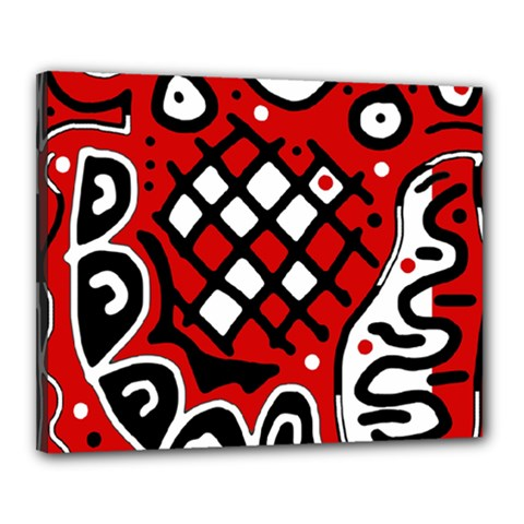 Red high art abstraction Canvas 20  x 16