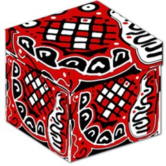 Red high art abstraction Storage Stool 12