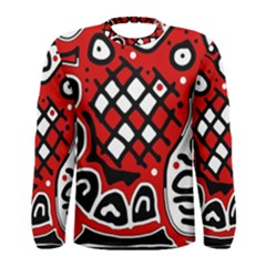 Red high art abstraction Men s Long Sleeve Tee