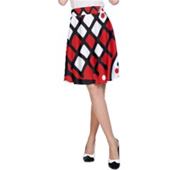 Red high art abstraction A-Line Skirt