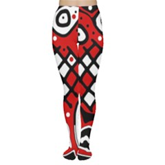 Red high art abstraction Women s Tights