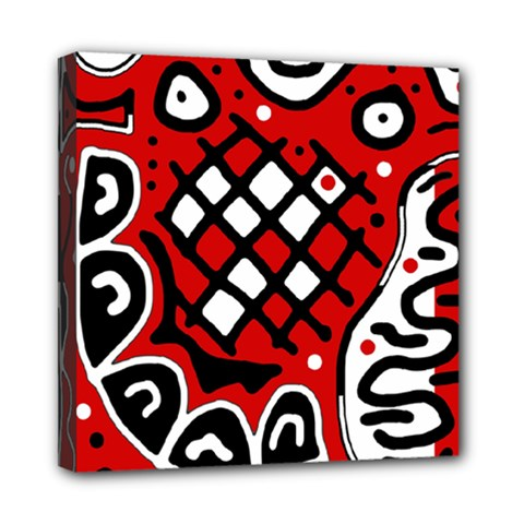 Red high art abstraction Mini Canvas 8  x 8