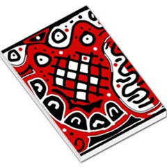 Red high art abstraction Large Memo Pads