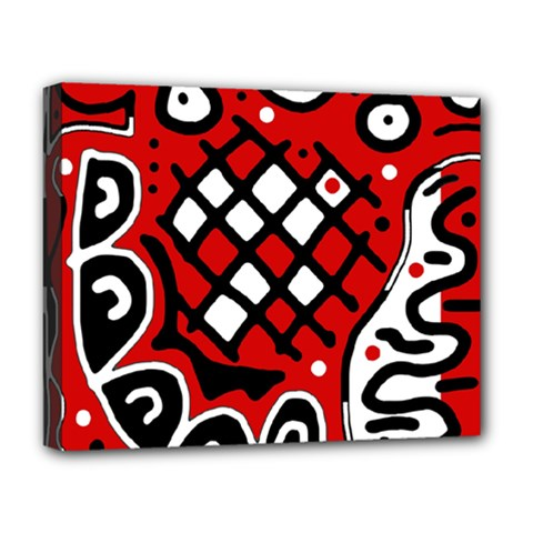 Red high art abstraction Deluxe Canvas 20  x 16