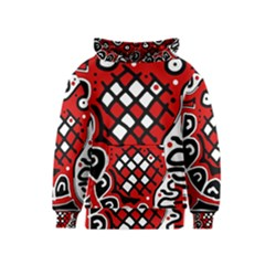 Red high art abstraction Kids  Pullover Hoodie