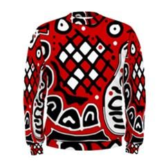 Red high art abstraction Men s Sweatshirt